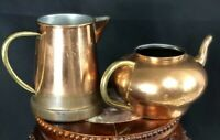 Vintage Taurus And ODI Copper Teapot And Kettle Made In Portugal