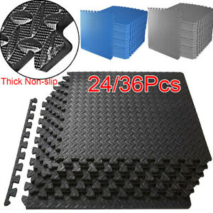 Extra Thick Interlocking Soft Foam Mats 60*60 Baby Floor Gym Fitness Gymnastics