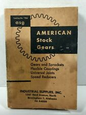 Vintage 1960 American Stock Gears Catalog