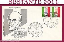 ITALIA FDC FILAGRANO ANNIVERSARIO REPUBBLICA 1971 ANNULLO TORINO G290