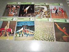 GYMNASTICS Focus on Sports History 1977-79 SPORTSCASTER USA 8 CARD LOT