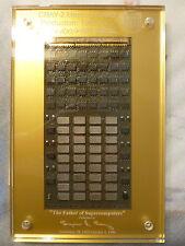 Cray-2 Memory Board w/ Lucite & Certificate, ~1985 SuperComputer Module