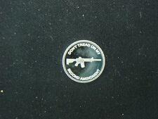 1 GRAM .999 SILVER 2nd AMENDMENT TACTICAL RIFLE ROUND COIN AR-15 AK-47 SKS 7.62