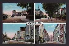 109092 AK Oels Schlesien um 1920 Bahnhof Gartenstaße Holteistraße Breslauerstraß