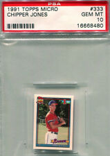 PSA 10 Chipper Jones Rookie 1991 Topps Micro RC Rarer then Desert Shield Tiffany