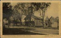 Newark Valley NY Cong Church & Chapel c1910 Postcard