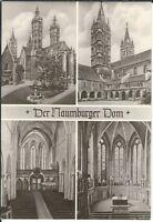 Ansichtskarte Dom zu Naumburg - Mittelschiff, Westchor, Kreuzgang - schwarz/weiß