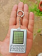 SUDOKU ELECTRONIC POCKET SIZE TRAVEL LCD PORTABLE GAME WHITE BABY KEYCHAIN