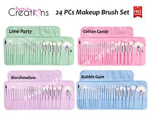 Beauty Creations 24 PCs Makeup Brush Set - Pastel Colors Makeup Brush Set