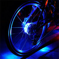 Bicycle Motorcycle Bike Tyre Tire Wheel Valve 8LED Flash Spoke Light Lamp 3ModeC
