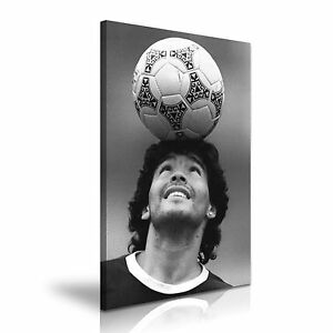 Diego Armando Maradona Footballer Icon Stretched Canvas Wall Art