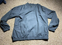 Vintage Nike Golf Blue Gray Pullover Windbreaker Jacket Men's Size Large