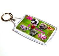 Staffordshire Bull Terrier Keyring Dog Key Ring Gift Xmas Gift Mothers Day Gift