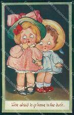 Children Kute Kiddies Wiederseim postcard cartolina QT5870