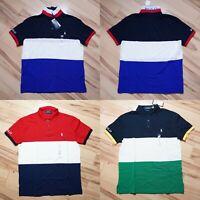Men Polo Ralph Lauren Mesh Polo Shirt CUSTOM SLIM FIT - S M L XL XXL
