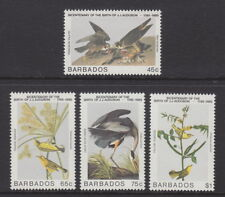 BARBADOS - 1985 Birth Bicentenary of John J Audubon (4v) - UM / MNH