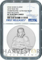 STAR WARS STORMTROOPER ULTRA HIGH RELIEF - 2 OZ. COIN - NGC PF70 FIRST RELEASES