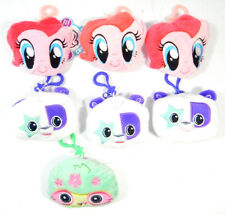 Lot of (7) Radz Plusheez My Little Pony Clip-On with Candy and Poster