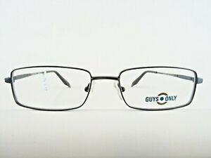 Schwarze Metallfassung Herrenbrille Lesebrille Brillen stabil rechteckig Gr. M