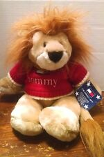 VINTAGE TOMMY HILFIGER LION PLUSH W/ KNIT SWEATER Stuffed Animal Red Purrfect
