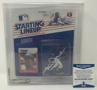 LEON DURHAM Bull Signed 1988 Starting Lineup FIGURE Chicago CUBS AFA 75 BECKETT