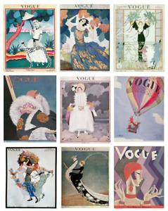VINTAGE Vogue magazine fashion covers 1900's 1910's 1920's 1930's print/poster