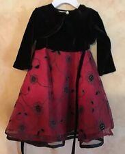 Blueber 2 Piece Baby Girl Boutique Dress Holidays Velvet 12 Months
