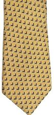 "Nautica Men's Silk Tie 58.5"" X 4"" Gold/Black Geometric"