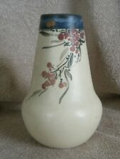 1917 Weller White and Decorated HUDSON Line 7in. Floral Vase (bottom marked)
