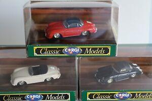 Porsche 356B Corgi Toys 1/43 Lot