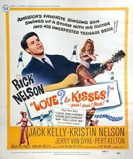 1965 Ricky Nelson & Wife Love and Kisses Original Movie Poster Directed by Ozzie