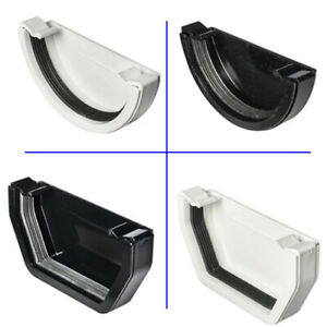 Gutter External Stop End Cap Half Round Fits 112mm Round and Square