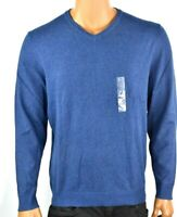 Alfani Mens Sweater New L Blue V-Neck Long Sleeves Warm Winter