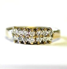 10k yellow gold womens cz anniversary ring band 3.5g antique ladies estate