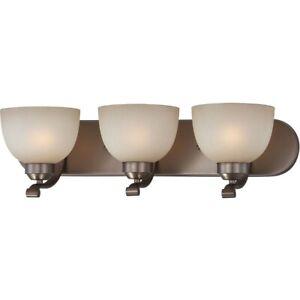 "Minka-Lavery 5423-281 Paradox 3-Light 24"" Harvard Court Bronze PlatedBath Light"