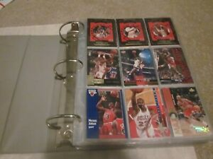 1990's Basketball Binder of Stars-Michael Jordan Inserts, Shaquille O'Neal RC