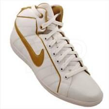 Womens Nike Court tradizione Leather Pelle Mid High Bianco/Oro gr:42 Scarpe