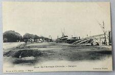 early 1900s Antique Postcard Saigon Vietnam Quai de l'Arroys Chinois