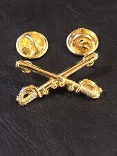 New listing U.S Military Cavalry Hat Badges Pin Crossed Sabers Swords Veteran
