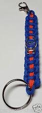 Florida Gators; UFL Blue & Orange Handmade Paracord Deluxe Key Chain or Lanyard