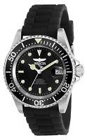 Invicta Men's Watch Pro Diver Black Dial Automatic Dive Black Rubber Strap 23678