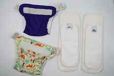 Soft Bums Baby Cloth Reusable Nappies Diaperss Liners Size 0-2 Months