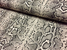 SNAKE SKIN Animal Print Fabric Linen Cotton Blend curtain decor dress 140cm wide