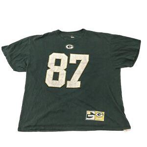 Green Bay Packers T-Shirt Men's Majestic Size XXL Green Jordy Nelson #87