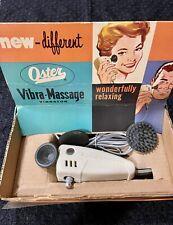 Vintage Oster 2 Speed Vibra Scalp Face & Body Massage Vibrator #213-01 Rare pkg.