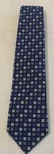 Blue check silk tie by Gieves & Hawkes of England