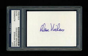 DAVE NIEHAUS SIGNED MINT CUT PSA/DNA SLABBED AUTOGRAPHED HOF SEATTLE MARINERS