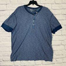 New listing Polo Ralph Lauren Henley Shirt Mens XXL Short Sleeve Blue Thermal Style NWOT