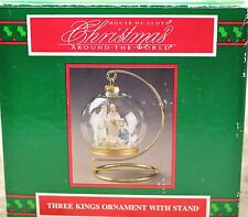 House of Lloyd Christmas 1994 Three Kings Baby Jesus Nativity Ornament Stand Box