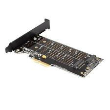 USA Dual Port NGFF M.2 B + M Key SSD to PCI Express PCI-E 4X Adapter Card BD#